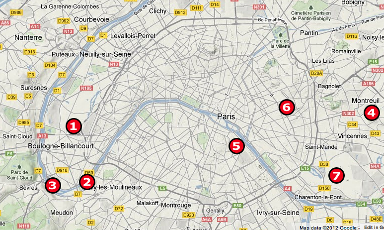 Birding Locations in Paris