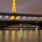 Paris at Night: Eiffel Tower and Bir-Hakeim Bridge