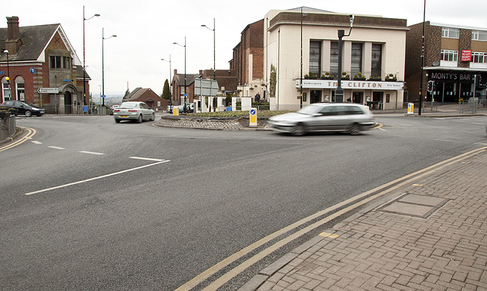 "The ""Bull Ring"" at the center of Sedgley."