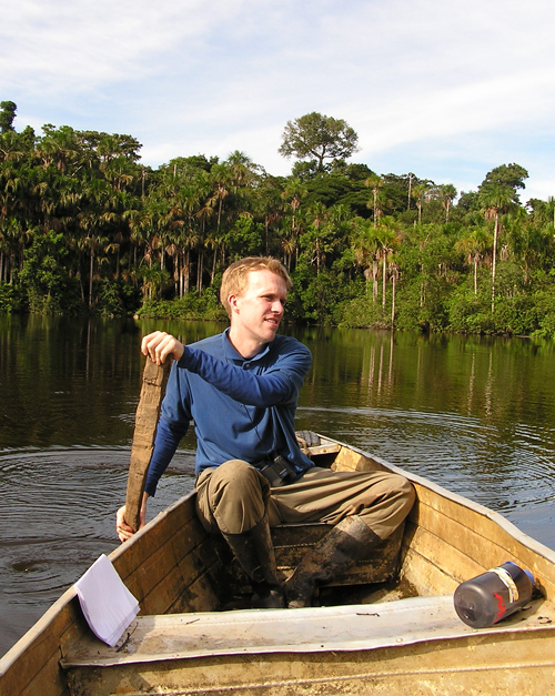 Adam in the Peruvian Amazon in 2004 © Grant Daniels