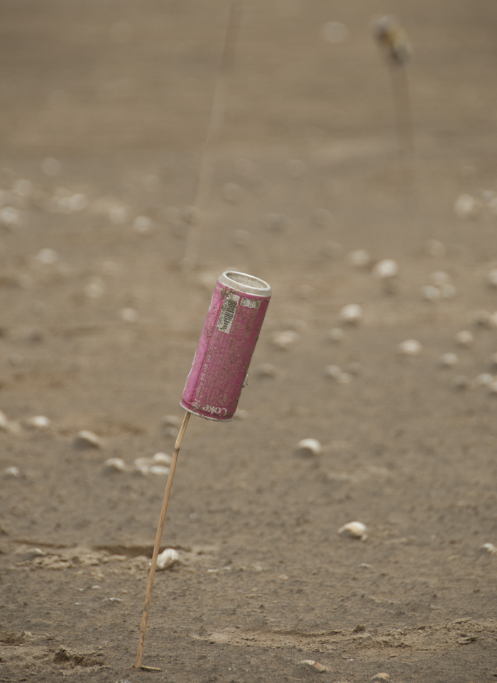 Coke can on a stick: a photographer's landmark.