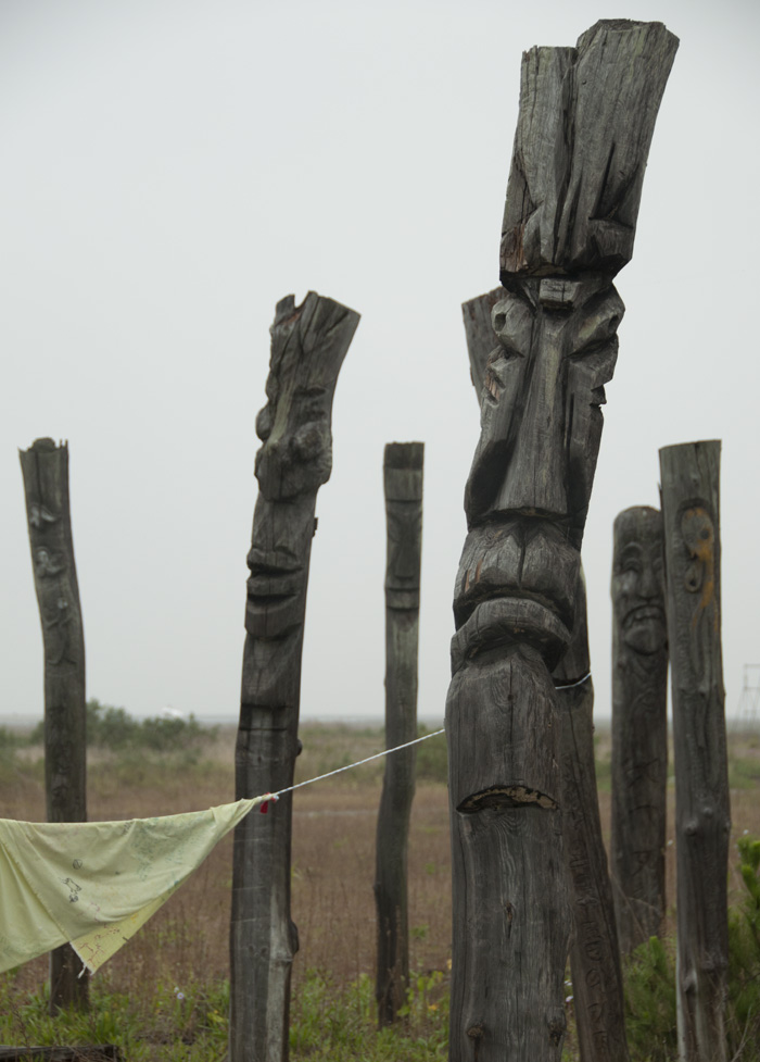 Jangseung totems used as protest.
